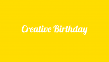 Journée d'anniversaire créative